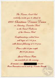kenner christmas dinner dance 1988 invitation and 1986