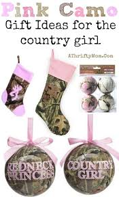 pink camo tree ornaments for the