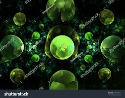abstract fractal pattern black background computergenerated stock