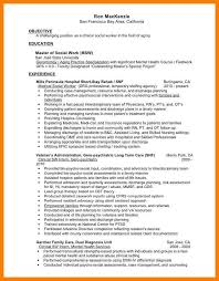social work resume example casual work resume template work