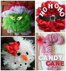christmas deco mesh wreath ideas wreaths christmas