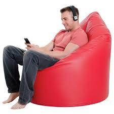 xxl bean bag chair faux leather in red xxl bean bags