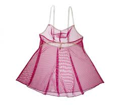 sheer babydoll in raspberry between the sheets collection