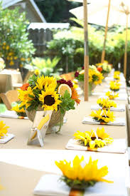 table centerpieces with sunflowers 70 sunflower wedding ideas and wedding invitations wedding