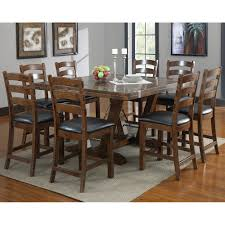 fresh design rustic counter height dining table sets charming