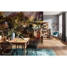 Dining Room Wall Murals Komar 98 In H X 145 In W Birch Forest Wall Mural Xxl4 023 The
