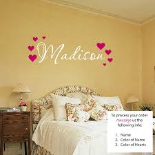 Wall Murals Amazon by Amazon Com Madison Wall Decal Childrens Personalized Name