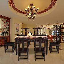 qiaoyu a mahogany dining table and chairs combination of classical