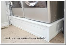 Pedestal Washing Machine Build Washer And Dryer Platform The Idea Room