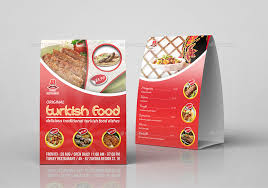 Table Tents Template Turkish Restaurant Table Tent Template By Owpictures Graphicriver