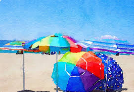 Beech Umbrella The Beach Umbrella Boxed Notecards Set Two Immaginare Press