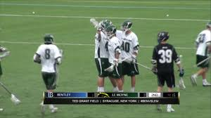 bentley college le moyne college men u0027s lacrosse vs bentley april 29 2017 youtube