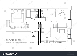 house layout design architectural plan house layout apartment top stock vector