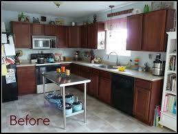 Diy Kitchen Furniture Inexpensive Diy Kitchen Cabinet Update