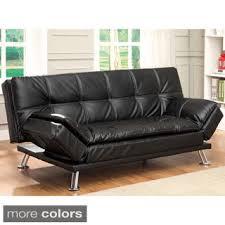 Modern Futon Sofa Bed Furniture Of America Stabler Comfortable Black Futon Sofa Bed