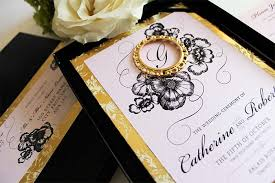 black and gold wedding invitations modern black and gold wedding lianggeyuan123
