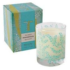 thymes candles thymes indigenous candle blue lotus