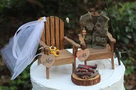 fishing wedding cake topper adirondack chair cake topper camping