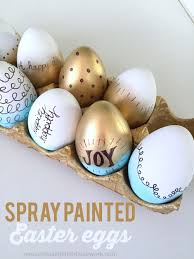 painted easter eggs spray painted easter eggs reasons to skip the housework
