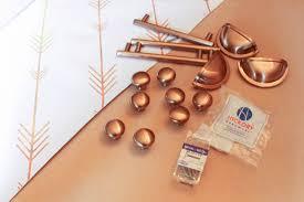Modern Copper Cabinet Pulls Roselawnlutheran - Copper kitchen cabinet hardware