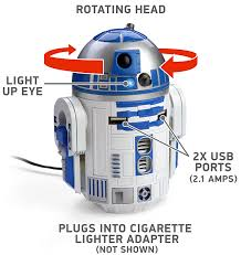 Car Phone Charger With Usb Port R2 D2 Usb Car Charger Thinkgeek