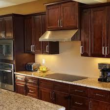cherry mahogany kitchen cabinets leo saddle cherry mahogany kitchen cabinets w soft close by