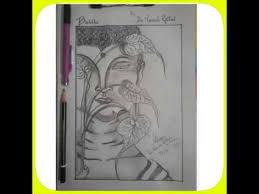 buddha pencil sketch by dr naresh rathod youtube