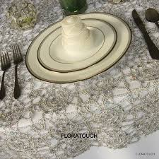 silver lace table overlay silver alice metallic lace sequin table overlay wedding table