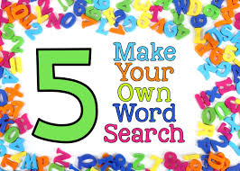 Make Own Word Search Word Work Archives Lucky To Be In First