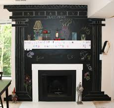 Roman Columns For Home Decor by Chalkboard Wall Painted As Roman Columns Around Fireplace Home