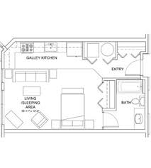 Galley Kitchen Width - prospect on central apartments 2500 17th st 201 denver co