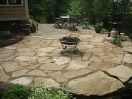 spectacular irregular flagstone patio on interior home paint color