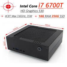 ordinateur de bureau en wifi 6e intel i7 6700 t nouveau mini pc ordinateur de bureau