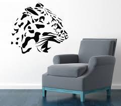 Decoration Cat Wall Decals Home by Wall Decals Wild Animals Cheetah Head Roaring Leopard Jaguar
