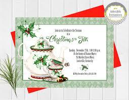 holiday tea invitation christmas tea invitation tea party