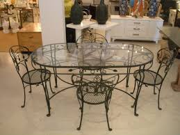 Vintage Woodard Wrought Iron Patio Furniture by Stunning Iron Dining Room Chairs Contemporary Rugoingmyway Us