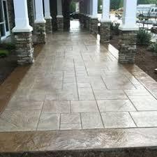 Stamped Concrete Patio Looks Like Large Pavers Deck - Concrete backyard design ideas