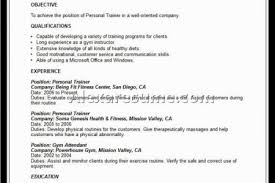 Sample Resume For Fitness Instructor by Personal Trainer Resume Sample Entry Reentrycorps