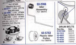 maytag dryer mod pye2300ayw the idler pulley spring popped
