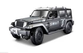 police jeep wrangler jeep rescue concept police swat version 1 18 by maisto 36211 ebay
