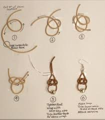 judy larson u0027s leather celtic knot earrings tutorial the beading