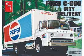 Vintage Ford Truck Decals - ford c600 pepsi city delivery truck round2