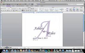 How To Create A Wedding Program How To Create A Monogram Using Microsoft Word Youtube