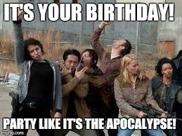Walking Dead Happy Birthday Meme - walking dead happy meme generator imgflip