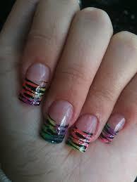 black tip nail designs health u0026 beauty rainbow zebra print