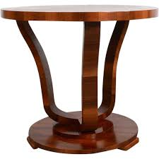 vintage danish art deco style mahogany round side table