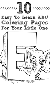 easy abc coloring pages funycoloring