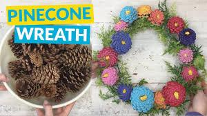 pine cone wreath pinecone zina wreath