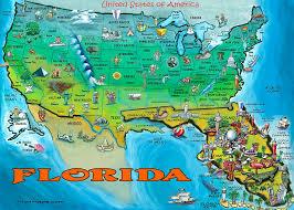 map usa florida florida usa map painting by kevin middleton