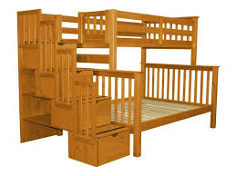 bunk beds twin over full stairway honey 728 bunk bed king